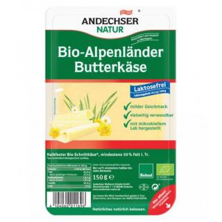 Andechser Natur Alpenländer Butterkäse 150g Packung