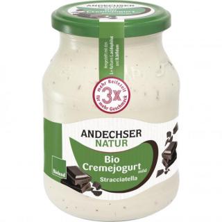 Andechser Natur Cremejogurt Stracciatella 500g Glas