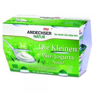 Andechser Natur Die Kleinen Bio-Jogurts natur 4x 100g Cluster Packung