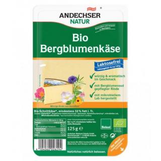 Andechser Natur Bergblumenkäse in Scheiben 125g Packung