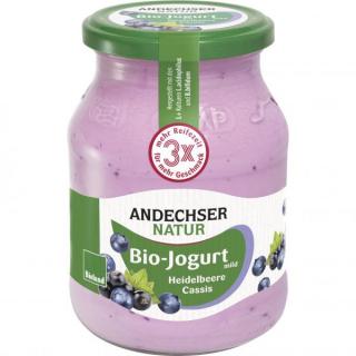 Andechser Jogurt Heidelbeere Cassis 500g Glas