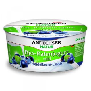 Andechser Rahmjogurt Heidelbeere-Cassis 150g Becher