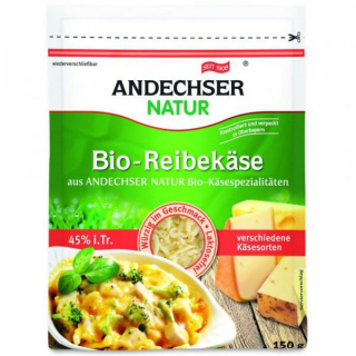 Andechser Natur Alpenreibekäse 150g Packung