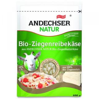 Andechser Natur Ziegenalpenreibekäse 100g Packung