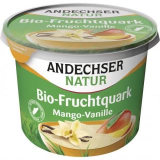 Andechser Natur Fruchtquark Mango Vanille 450g Becher