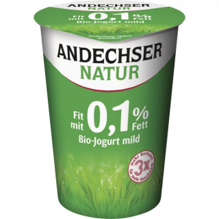 Andechser Natur  Joghurt Natur Fit mit 0,1%, 500 g