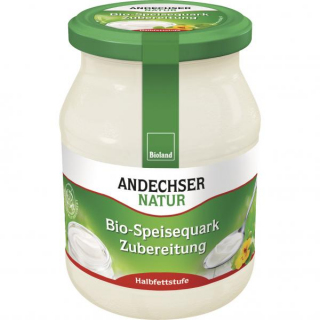 Andechser Natur Speisequarkzubereitung Halbfettstufe 500g Glas
