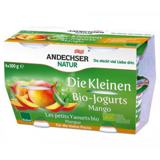 Andechser Natur Die Kleinen Bio-Jogurts Mango 4x100g Packung