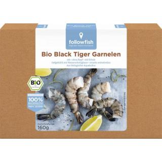 followfish Black Tiger Prawns Riesengarnelen 160g Packung
