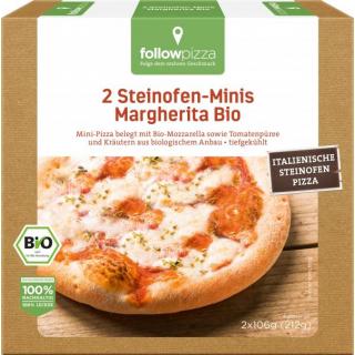 followfood Holzofen-Minis Margherita 212g Schachtel