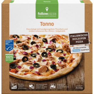 followfood Pizza Tonno Thunfisch 300g Schachtel