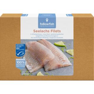 followfish Seelachsfilet 250g Schachtel