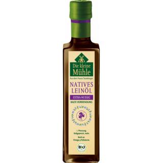Die Kleine Mühle Leinöl nativ extra nussig  0,25l Flasche