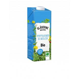 Gläserne Molkerei Fettarme H-Milch 1,5% 1l Packung