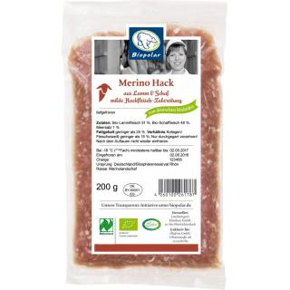 Biopolar Merino Lammhackfleisch 200g Packung