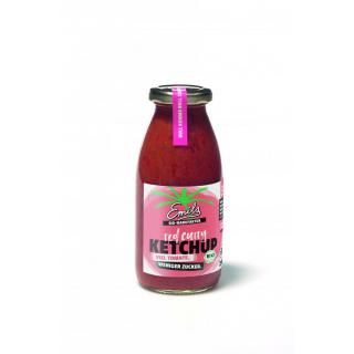 Emils Feinkost Redcurry Ketchup ohne Rohrohrzucker 250ml Flasche