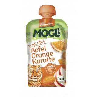 Mogli Moothie Apfel Orange Karotte 100ml Packung