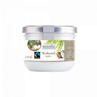 Bio Planète Kokosöl nativ 400ml Glas Fairtrade