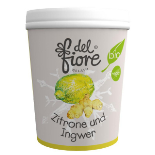 del fiore Gealato Zitrone und Ingwer Sorbet 500ml Becher