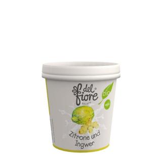 del fiore Gealato Zitrone und Ingwer Sorbet 130ml Becher