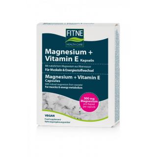 Fitne Magnesium + Vitamin E Kapseln 60 Stück Packung
