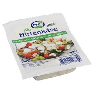 Frischkäserei  Züger Hirtenkäse 150g Packung -laktosefrei
