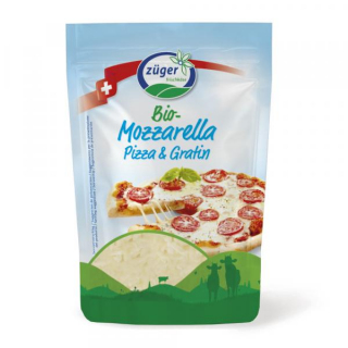 Frischkäserei  Züger Mozzarella gerieben 150g Beutel