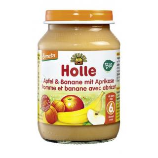Holle Apfel & Banane mit Aprikose 190g Glas