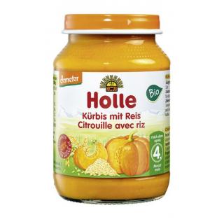 Holle Kürbis mit Reis 190g Glas