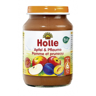 Holle Apfel & Pflaume 190g Glas