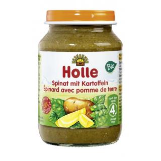 Holle Spinat mit Kartoffeln 190g Glas