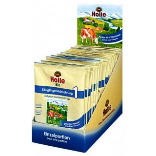 Holle Bio-Anfangsmilch 1 Portionsbeutel 20g Packung