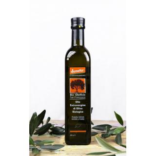 Bio Oleificio San Francesco demeter Olivenöl extra 0,5l Flasche