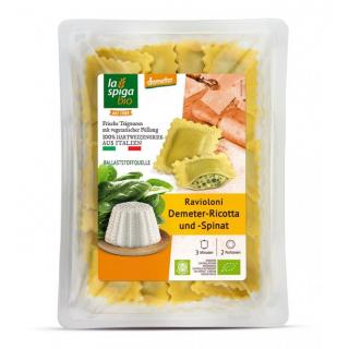 La Spiga Bio Ravioloni Ricotta Käse und Spinat  250g Schale