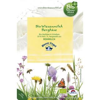 Bio Wiesenmilch Bergkäse in Scheiben 100g Packung