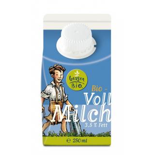 besser Bio Vollmilch 250ml Tetra Pack Schulmilch