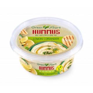 Green Heart Hummus Lemon Coriander 150g Becher